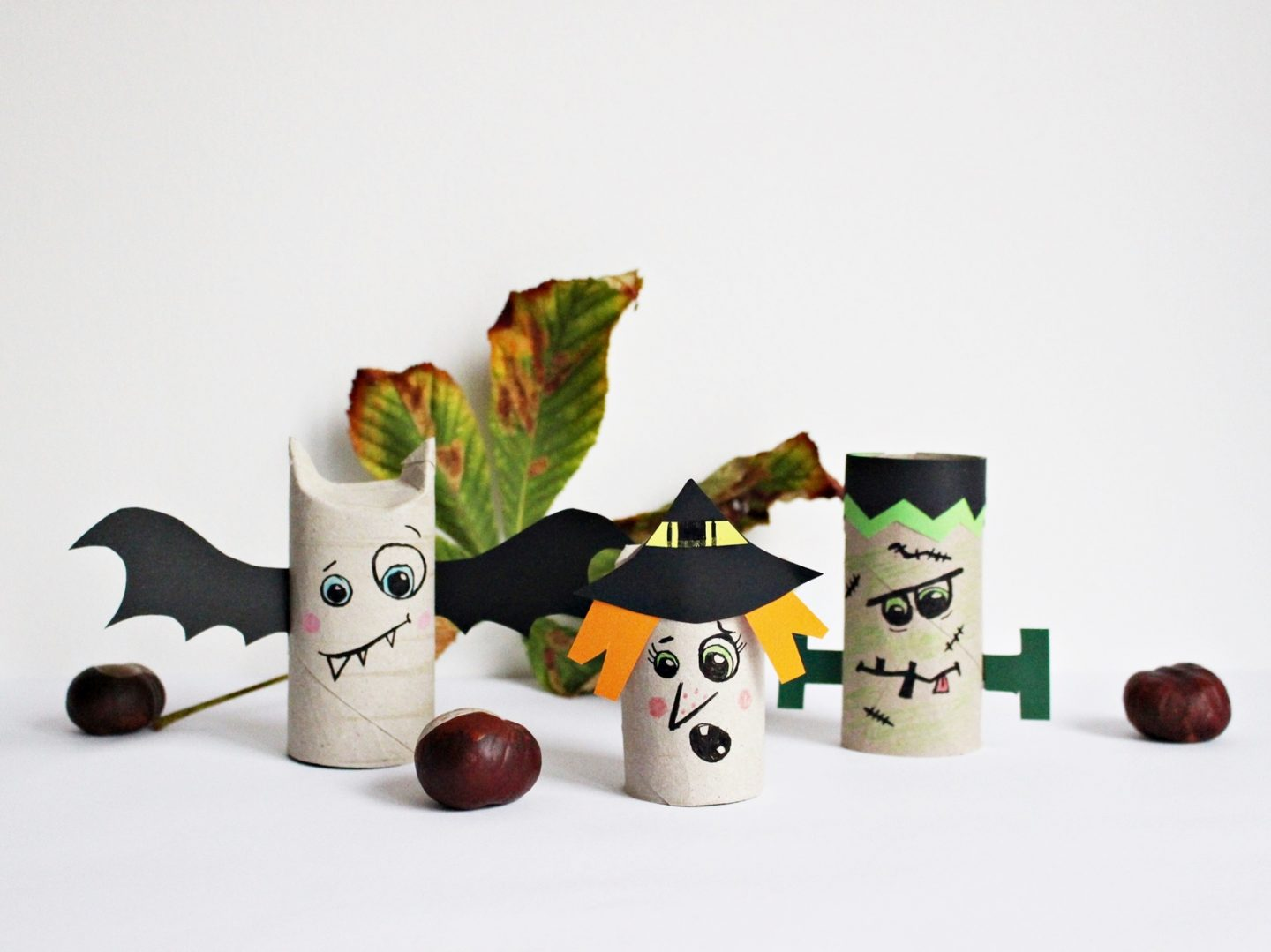 Diy Upcycling Spooky Doobi Boo 5 Minuten Halloween Deko Mit Papierrollen Basteln Starlights In The Kitchen