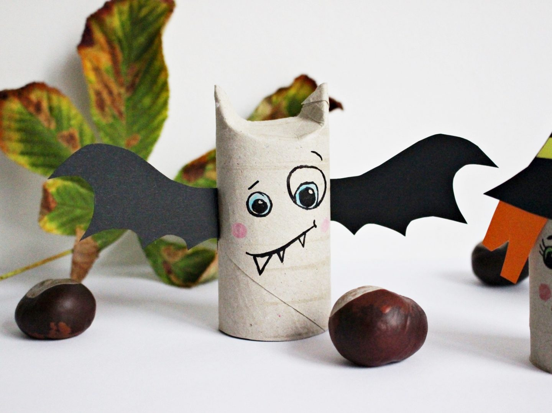 Diy Upcycling Spooky Doobi Boo 5 Minuten Halloween Deko Mit Papierrollen Basteln Starlights In The Kitchen