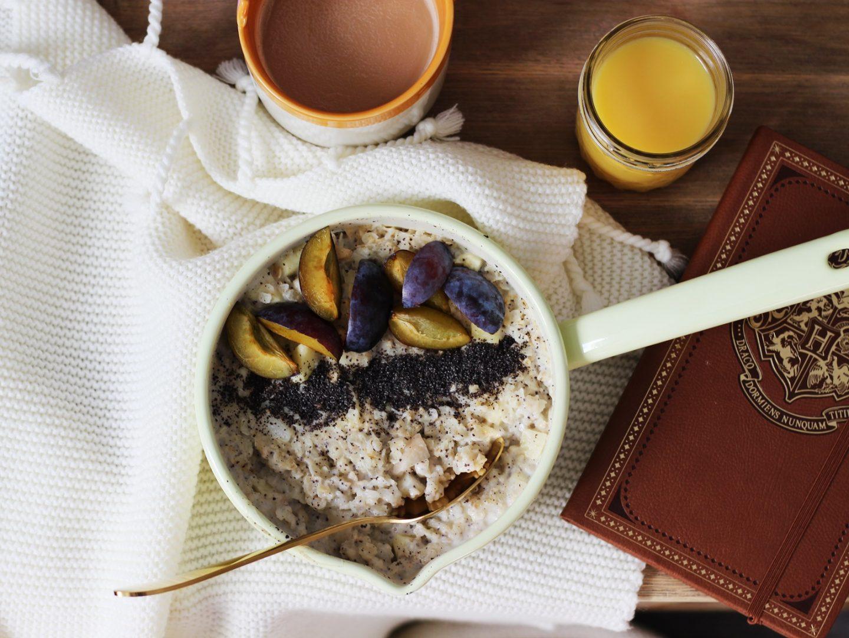 food es herbst lt porridge mit zwetschken apfel und. Black Bedroom Furniture Sets. Home Design Ideas